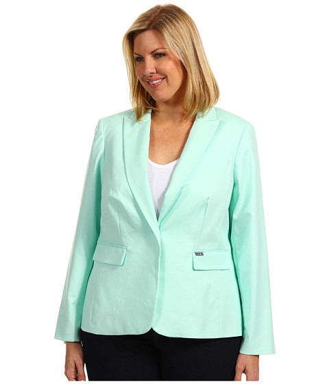 Sacouri Calvin Klein - Plus Size One Button Colored Jacket - Opal