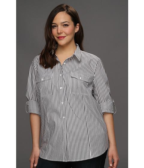 Bluze Michael Kors - Plus Size Yarn Dye Button Down Shirt - Dark Midnight