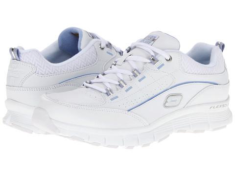 Adidasi SKECHERS - Leaper - White