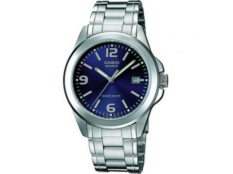 Ceasuri Casio - Casio Mens Mtp1215a-2a Stainless Steel Analog Casual Dress Watch Quartz Blue - Multicolor