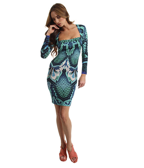 Rochii Just Cavalli - Atlantis Print Jersey Dress - Aqua