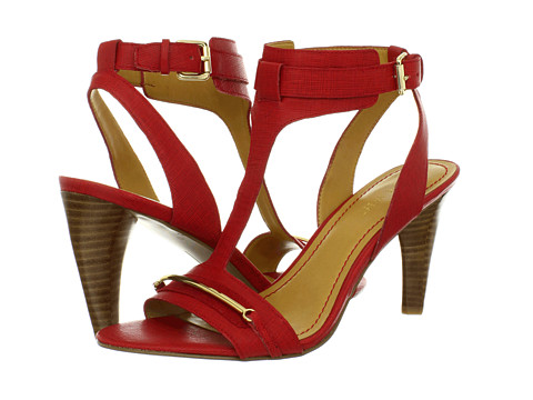 Pantofi Nine West - Manii - Red/Red Leather