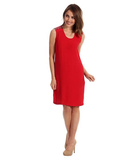 Rochii Michael Kors - CRP CHN Shoulder Dress - Red Blaze
