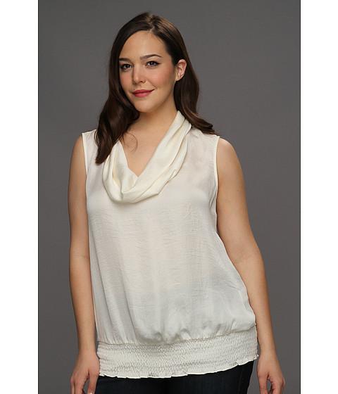 Tricouri Michael Kors - Plus Size Habutai Cowl Neck Shirt - Cream
