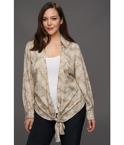 Bluze Michael Kors - Plus Size Parasol L/S Tie Front Shirt - Khaki