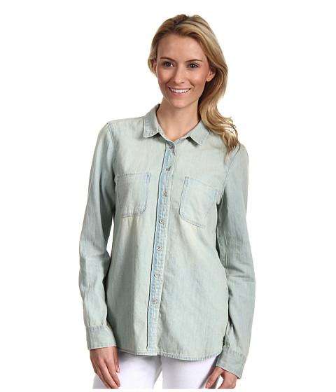 Tricouri Calvin Klein - Fitted Denim L/S Shirt - Light Wash