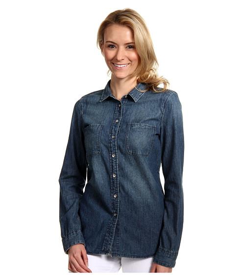 Tricouri Calvin Klein - Fitted Denim L/S Shirt - Medium Wash