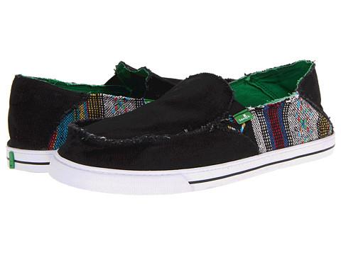 Pantofi Sanuk - Baseline Raw - Black/Baja