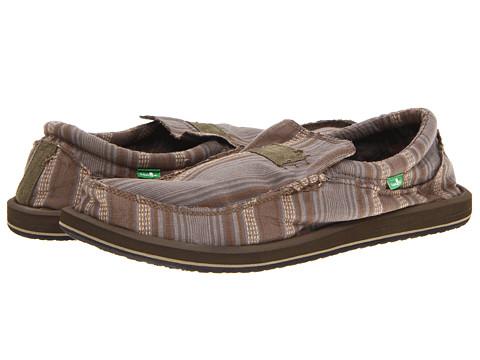 Pantofi Sanuk - Kyoto Big & Tall - Olive Stripe