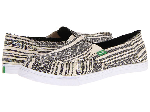 Pantofi Sanuk - Cabrio Poncho - Black/Cream