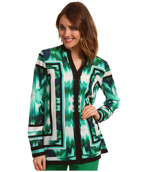 Bluze Calvin Klein - Boho Tile Print Crew Neck - Emerald/Black