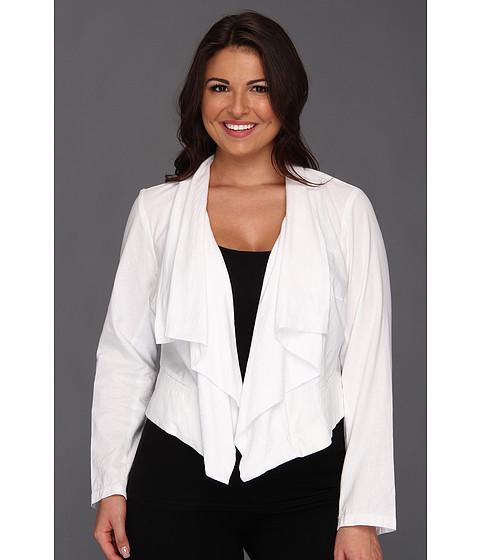 Sacouri DKNY - Plus Size Drapey Linen Blazer - White