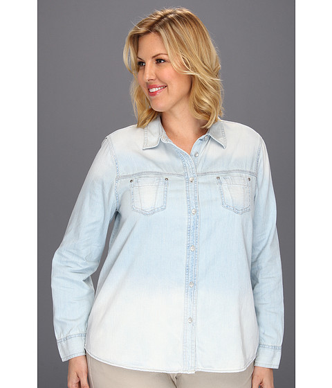 Bluze DKNY - Plus Size Denim Shirt - Polar Wash