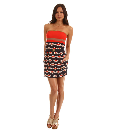 Rochii Marc by Marc Jacobs - Hayley Stripe Bandeau Dress - Ink Blue