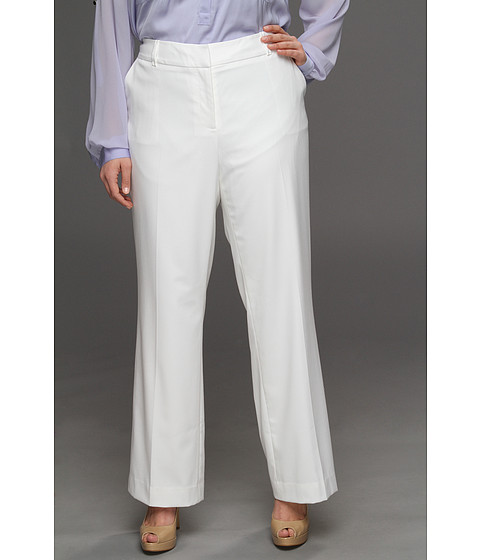 Pantaloni Anne Klein New York - Plus Size Wide Leg Pant - White