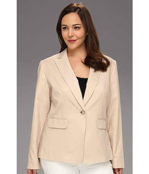 Jachete Anne Klein New York - Plus Size 1-Button Blazer - Suntan