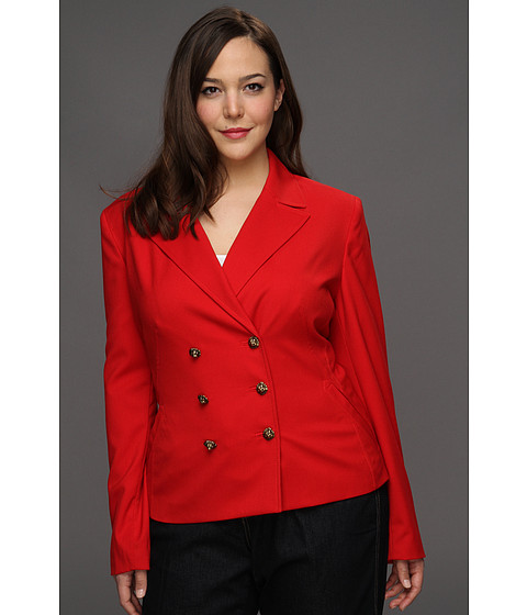 Jachete Anne Klein New York - Plus Size Peacoat - Red