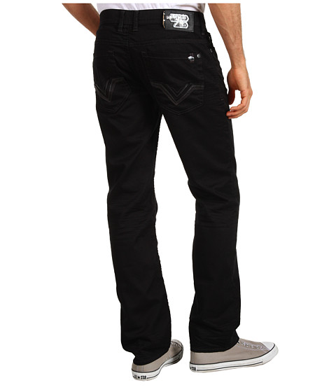 Blugi Buffalo David Bitton - Six Torpedo Slim Straight in Black - Black