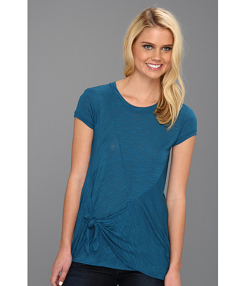 "Bluze BCBGMAXAZRIA - ""Liane\"" Side Twist Top - Moroccan Blue"