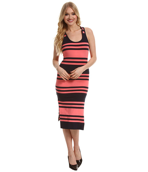 Rochii French Connection - Jag Stripe Dress - Nocturnal/Penelope Pink