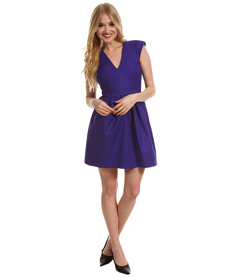 Rochii French Connection - Unno Cotton Cap Dress - Electric Purple
