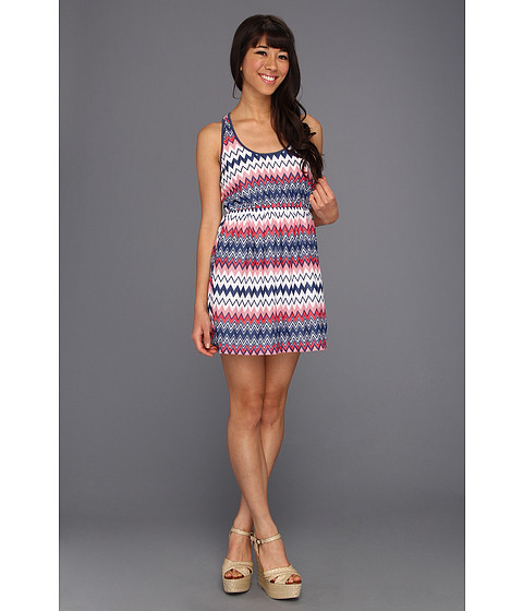 Rochii Gabriella Rocha - Brooklyn Zig Zag Print Dress - Pink Multi