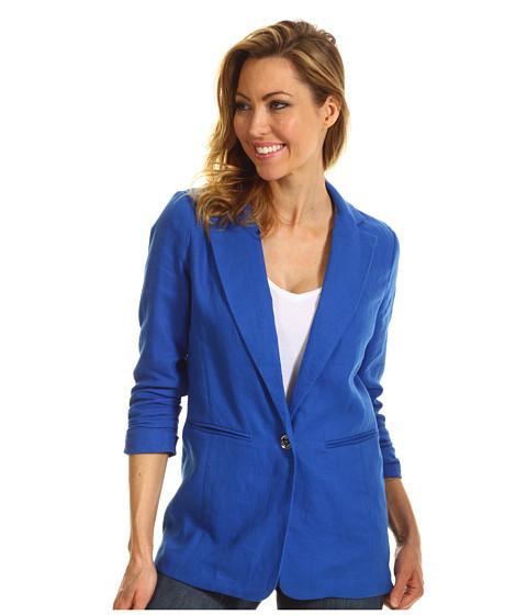 Jachete Michael Kors - Linen Shirred Boyfriend Jacket - Urban Blue