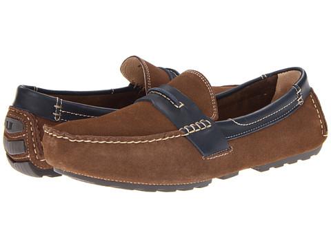 Pantofi Florsheim - Roadster Penny - Mushroom Suede/Navy Smooth Leather