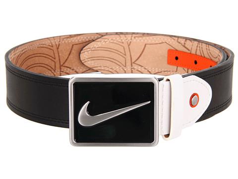 Curele Nike - Swoosh Logo Plaque Buckle - Black/White