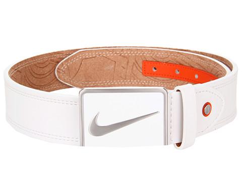 Curele Nike - Swoosh Logo Plaque Buckle - White