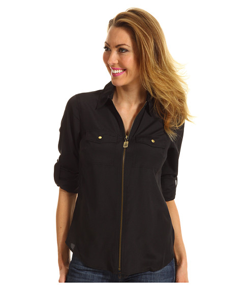 Bluze Michael Kors - Dog Tag Zip Shirt - Black