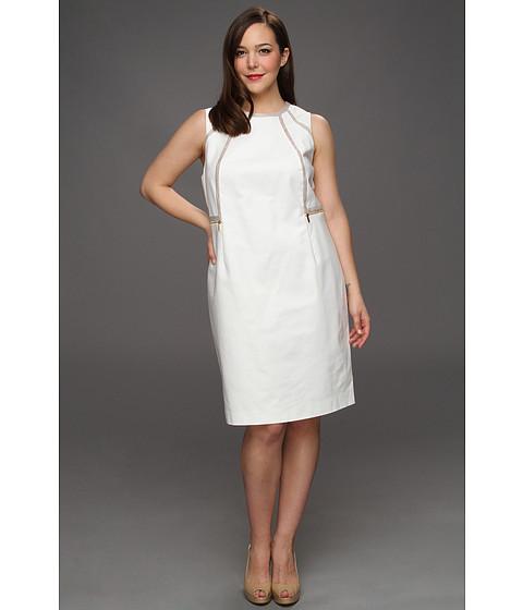 Rochii Calvin Klein - Plus Size Piped Sheath Dress - Ivory