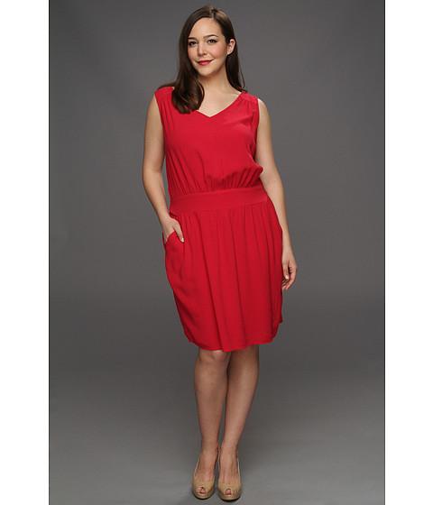 Rochii DKNY - Plus Size Open Back Shirt Dress - Hibiscus