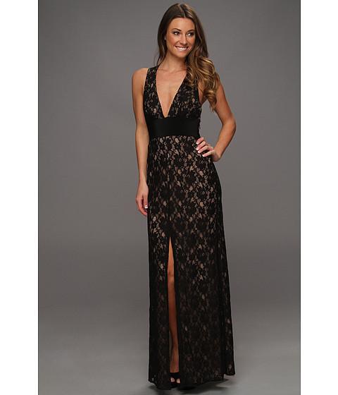 Rochii BCBGMAXAZRIA - Serafina Lace Evening Gown - Black