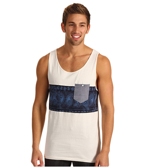 Tricouri Billabong - Garage Collection Banded Tank - Dirty White