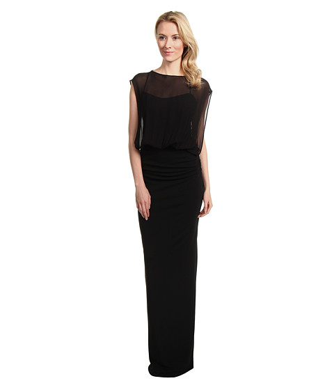 Rochii Nicole Miller - Riley Matte Jersey Gown - Black