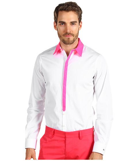 Bluze DSQUARED2 - Reflective Collar Carpenter Shirt - White