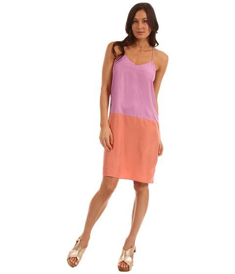 Rochii Tibi - V-Neck Cami Dress - Purple/Rouge Multi