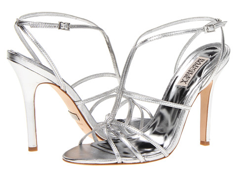 Pantofi Badgley Mischka - Vivian III - Silver Metallic Leather