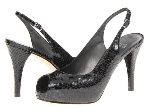 Pantofi Stuart Weitzman - Inslinky - Black Crystal Snake