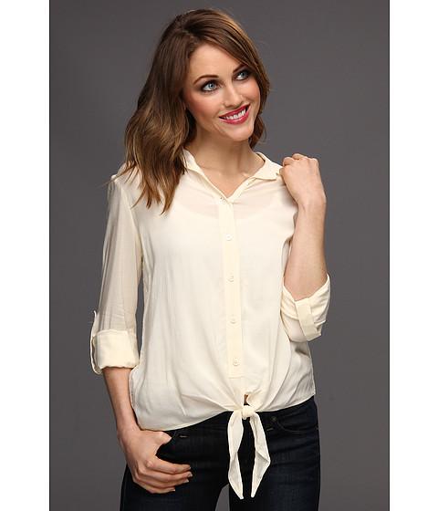 Bluze Vince Camuto - Tie Front Shirt w/ Cut Out Lace Back - Antique White