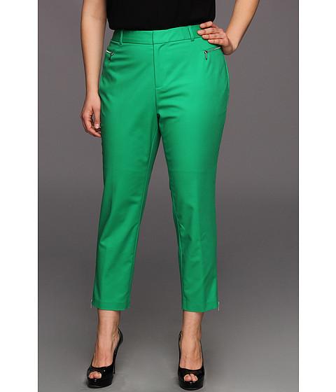 Pantaloni Calvin Klein - Plus Size Skinny Pant w/Zippers - Emerald