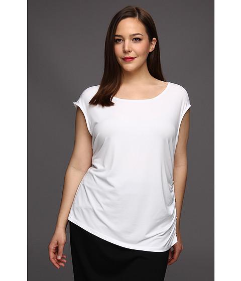 Tricouri Calvin Klein - Plus Size Sleeveless Side Smock Top - True White