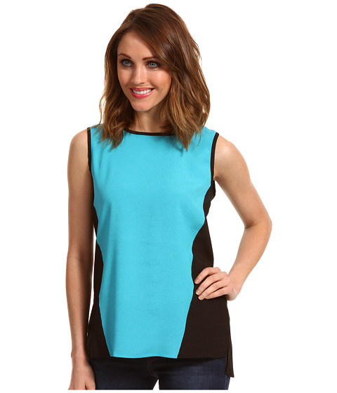 Tricouri Calvin Klein - Sleeveless Colorblock Pullover - Nile