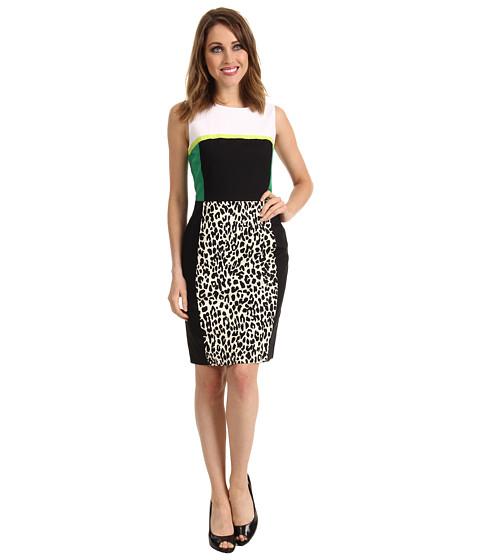 Rochii Calvin Klein - Cheetah Spots Combo Print Shift Dress - Black/True White Combo