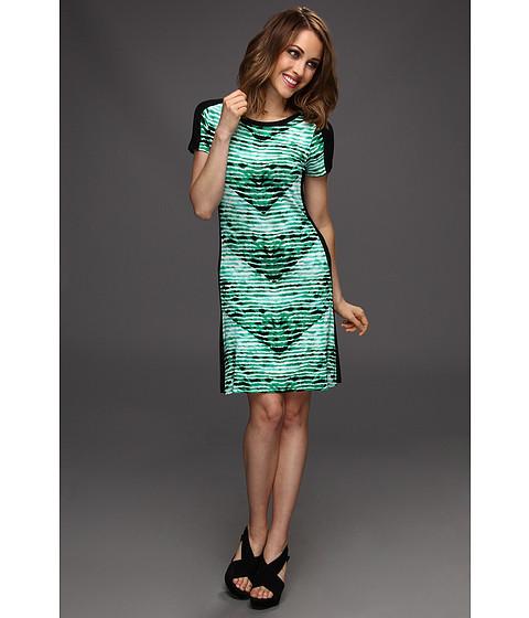 Rochii Calvin Klein - T-Shirt Dress - Emerald/Nile Multi
