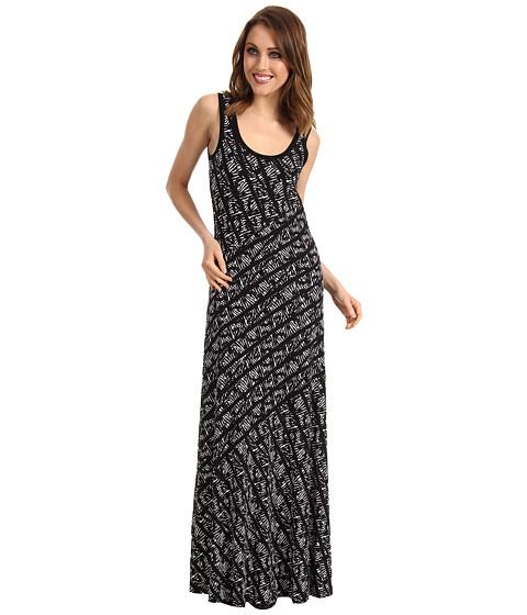 Rochii Calvin Klein - Tweed Stripe Bias Cut Maxi Dress - Black/True White Multi