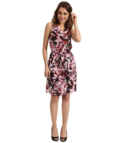 Rochii DKNY - Multi Flower Print Dress - Buff