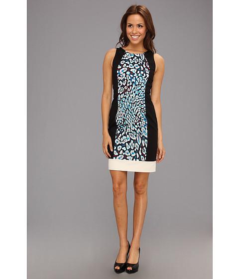 Rochii DKNY - Sleeveless Dress w/ Contrast Yoke - Stone