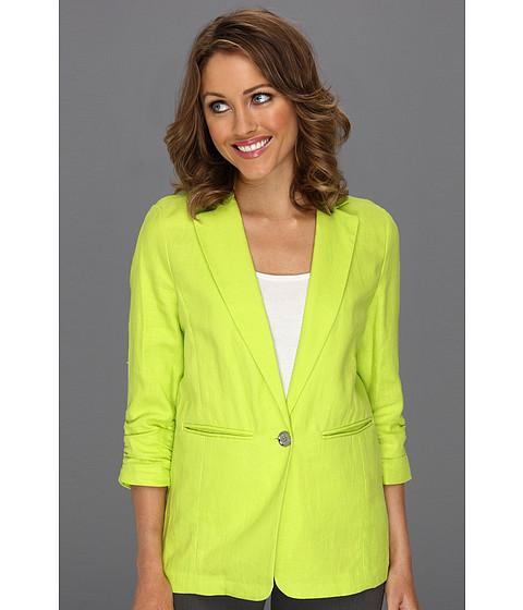 Jachete Michael Kors - Petite Linen Shirred BF Jacket - Kiwi